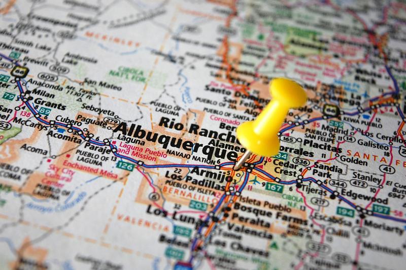 Albuquerque NM City Map Dumpster Rentals